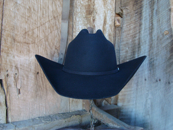 Black Bar 50 Hat. 50% Beaver fur made for the working cowboy